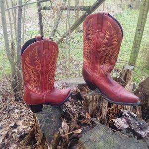 Laredo Womens Red All Leather Madison snip toe sz8